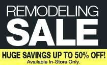 REMODELING CLEARANCE SALE