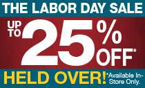 Labor Day Sale - Held Over!