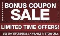 Bonus Coupon Sale!