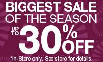 Biggest Sale of the Season!