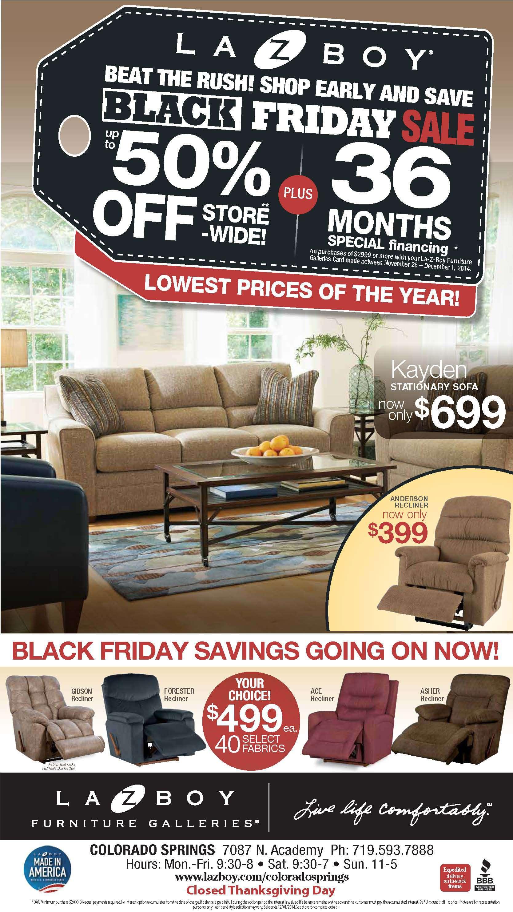 Colorado Springs La Z Boy Furniture Galleries Sales