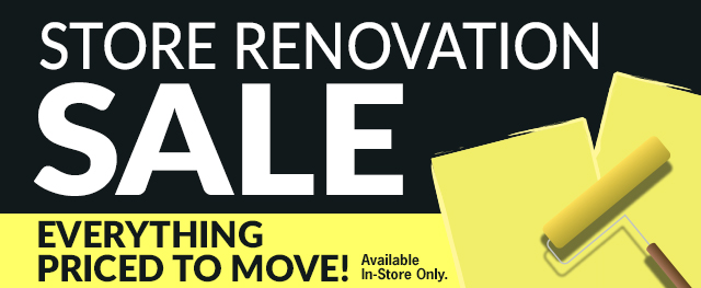 Renovation Sale! Everything must go!