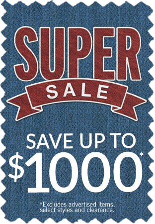 Super Sale! Save up to $1000