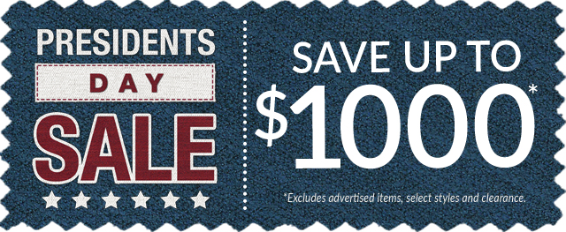Presidents Day Sale - Save Up To $1000
