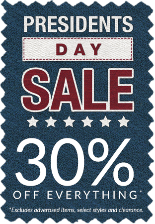 Presidents Day Sale! 30% off Everything