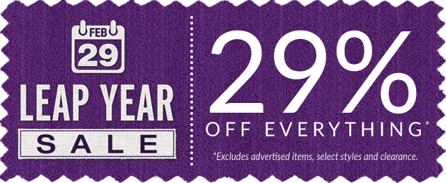 Deals so good they only happen once every 4 years! The Leap Year Sale
