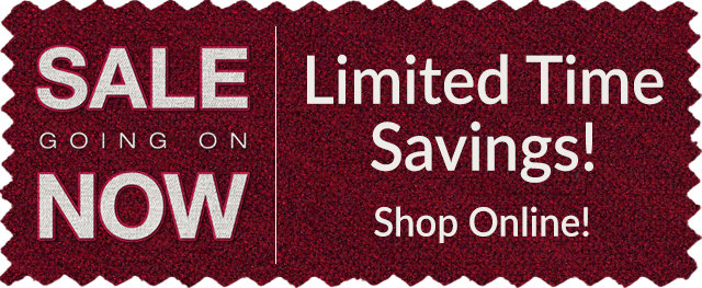Sale Going On Now - Limited Time Savings!