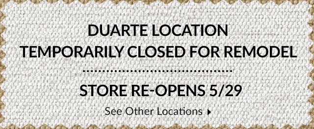 Closed during construction - visit our remodeled store on 5/29