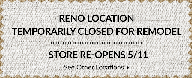 Store Closed for Construction - Reopens 5/11