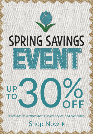 Spring Savings Event - Save up to 30% off