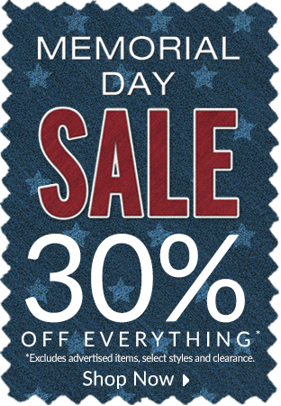 Memorial Day Sale - 30% off everything