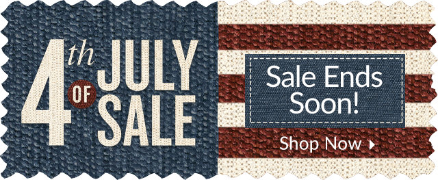 4th of July Sale - Sale Ends Soon!