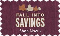 Fall into Savings - save up to 30%