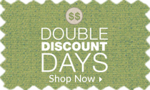 Double Discount Days - 20% off first item, 40% off second item